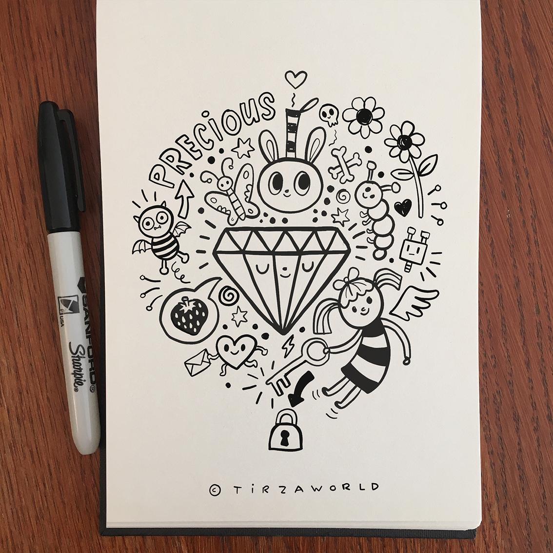 Tirzaworld doodle art